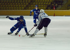 Bandy game Dynamo vs Baikal Stock Image