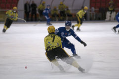 Bandy - a vigorous game of Stock Photo