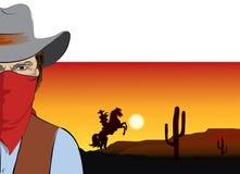 bandycki kowboja maski wektor ilustracji
