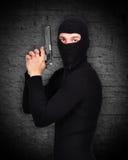 Bandyta w masce Fotografia Stock