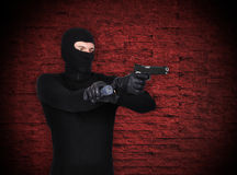 Bandyta Z pistoletem Fotografia Stock