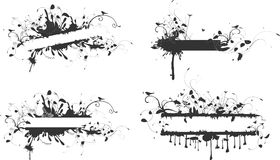 baner royaltyfri illustrationer