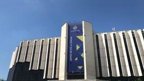 Baner av den bulgariska presidentsämbetet av Europeiska unionen rådet stock video
