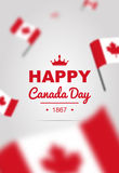 Baner av designbeståndsdelar för den Kanada dagen 1st Juli Royaltyfria Bilder