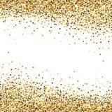 Baner av guld- paljetter stock illustrationer