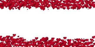 Baner av hjärtor för ferier Royaltyfri Bild