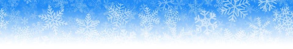 Baner av många lager av snöflingor royaltyfri illustrationer