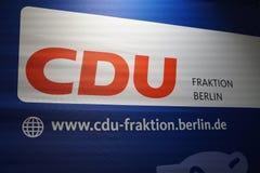Baner av politiska partiet CDU arkivbilder