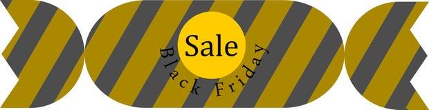 Baner Black Friday försäljning vektor Arkivfoto