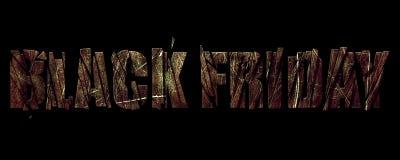 Baner Black Friday på metalltextur Royaltyfri Fotografi