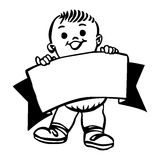 Baner with boy Royalty Free Stock Photo