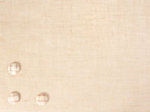 Baner della tela di sacco con i tasti come decorazione. Immagine Stock