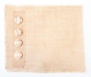 Baner della tela di sacco con i tasti come decorazione Fotografia Stock