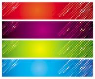 baner färgade mång- fyra royaltyfri illustrationer