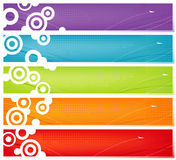baner färgrika fem royaltyfri illustrationer
