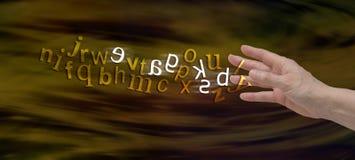 Baner för överenskommelsedyslexiWebsite Royaltyfria Foton
