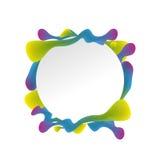 Baner för abstrakt begreppfärgstänkdesign Arkivbild