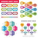 Baner för affärsidé för Infographic beståndsdelmall för presentation, broschyr, website och annat designprojekt Timeline stock illustrationer