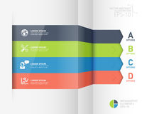 Baner för alternativ för stil för Infographic affärsorigami Arkivfoton
