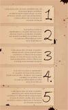 Baner för alternativ för tappningbakgrundsnummer stock illustrationer