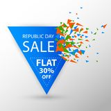 Baner för annonsering för Sale befordran för 26th Januari, lycklig republikdag av Indien royaltyfri illustrationer