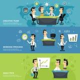 Baner för anställda för kontorspersonal horisontal Arkivbilder