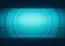 Baner för användargränssnitt för affärsteknologiblått faktiskt Royaltyfri Fotografi