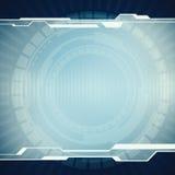 Baner för användargränssnitt för affärsteknologiblått faktiskt Arkivbilder