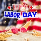 Baner för arbets- dag, patriotisk bakgrund Arkivfoto