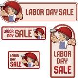 Baner för arbets- dagförsäljning. Arkivfoto