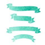 Baner för band för vektorvattenfärg färgrika Royaltyfri Fotografi