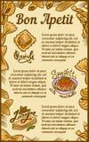 Baner för begrepp för lasagne för Bonappetitravioli, utdragen stil för hand vektor illustrationer