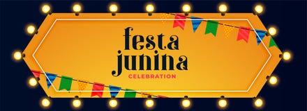 Baner för beröm för garnering för Festa juninaljus stock illustrationer