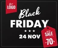 Baner för Black Friday försäljningsrengöringsduk Royaltyfri Foto