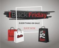 Baner för Black Friday försäljningsvektor för rengöringsduk eller annonsering av säsongslutrabatter fotografering för bildbyråer