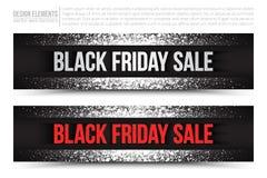 Baner för Black Friday Sale vektorrengöringsduk Royaltyfria Foton