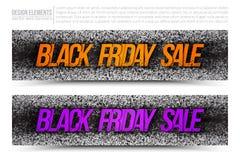 Baner för Black Friday Sale vektorrengöringsduk Arkivfoton