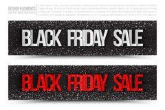 Baner för Black Friday Sale vektorrengöringsduk Royaltyfri Foto