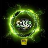 Baner för Cybermåndag försäljning Arkivbilder