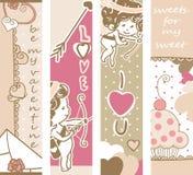 Baner för dag för valentin` s royaltyfri illustrationer