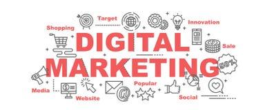 Baner för Digital marknadsföringsvektor royaltyfri illustrationer