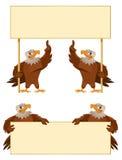 Baner för Eagles innehavmellanrum Royaltyfri Fotografi