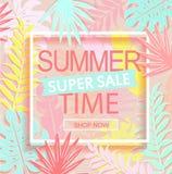 Baner för försäljning för sommartid toppet vektor illustrationer