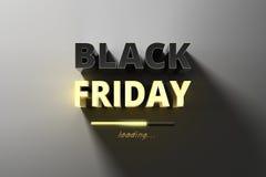 Baner för försäljningar på den svarta fredag varma försäljningen Arkivbilder