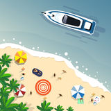 Baner för ferie för ö för sand för uppsättning för sommarstrandsemester tropiskt vektor illustrationer