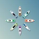 Baner för ferie för uppsättning för yacht för sommarsemester tropiskt royaltyfri illustrationer