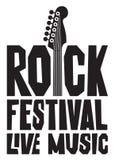 Baner för festival för levande musik med gitarren Royaltyfria Bilder