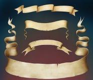 Baner för fyra tappning. royaltyfri illustrationer