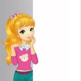 Baner för Goldenlocks flickahåll vektor illustrationer
