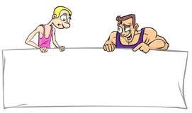 Baner för idrottshallen vektor illustrationer
